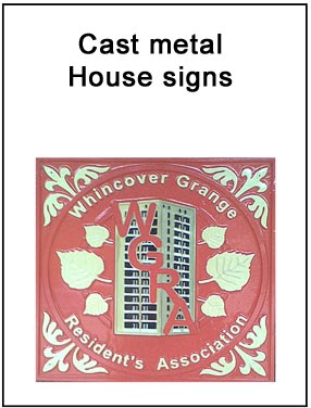 Cast Metal House Signs